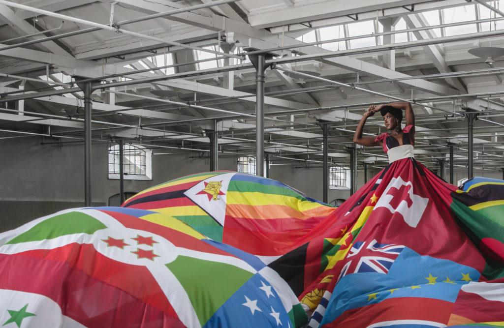 Iconic rainbow dress highlights global LGBTI+ human rights abuses