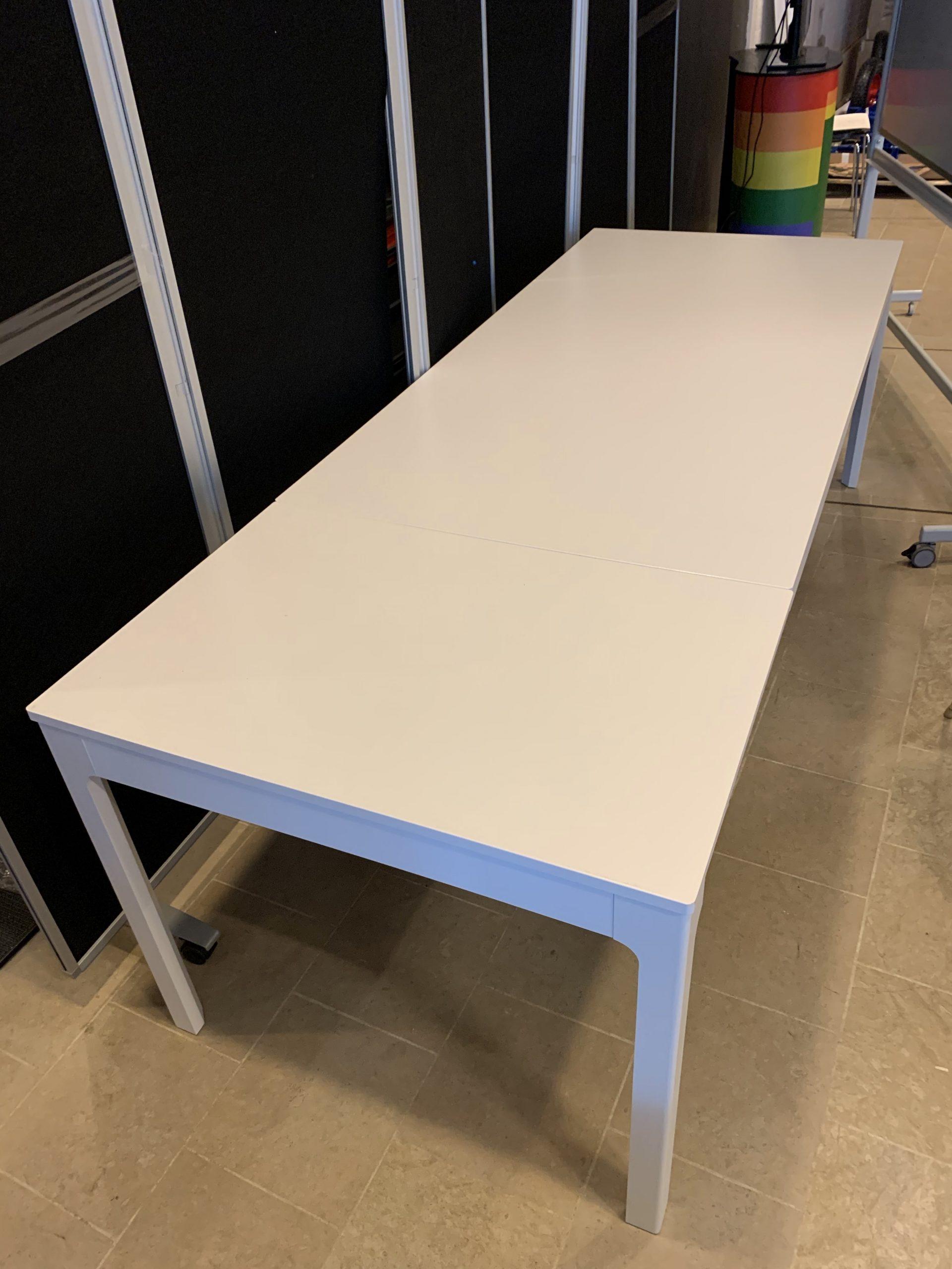 Long tables, white, 240 x 90 x 75 cm