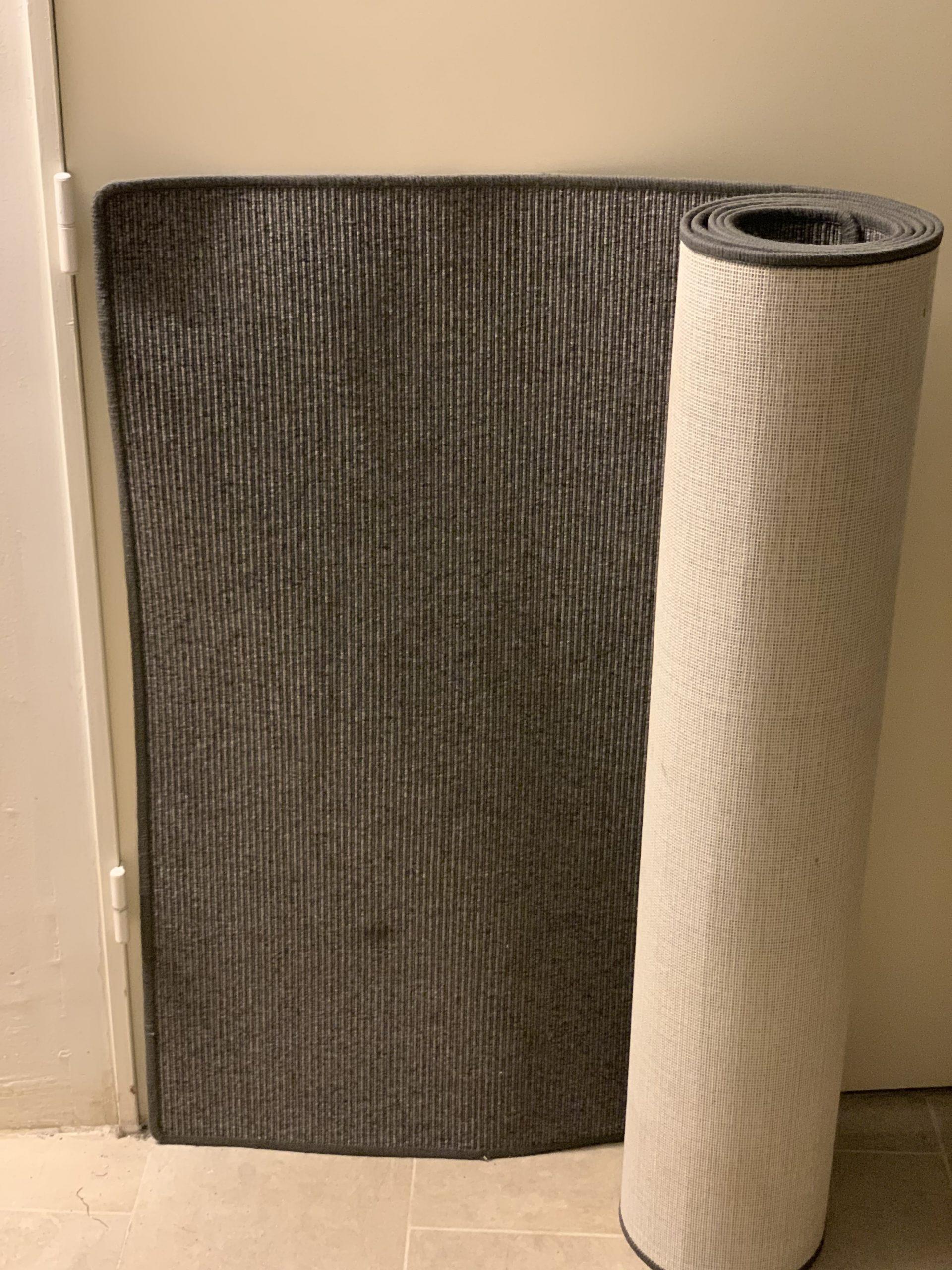 Rug, Grey / Antracit, 350 x 75 cm
