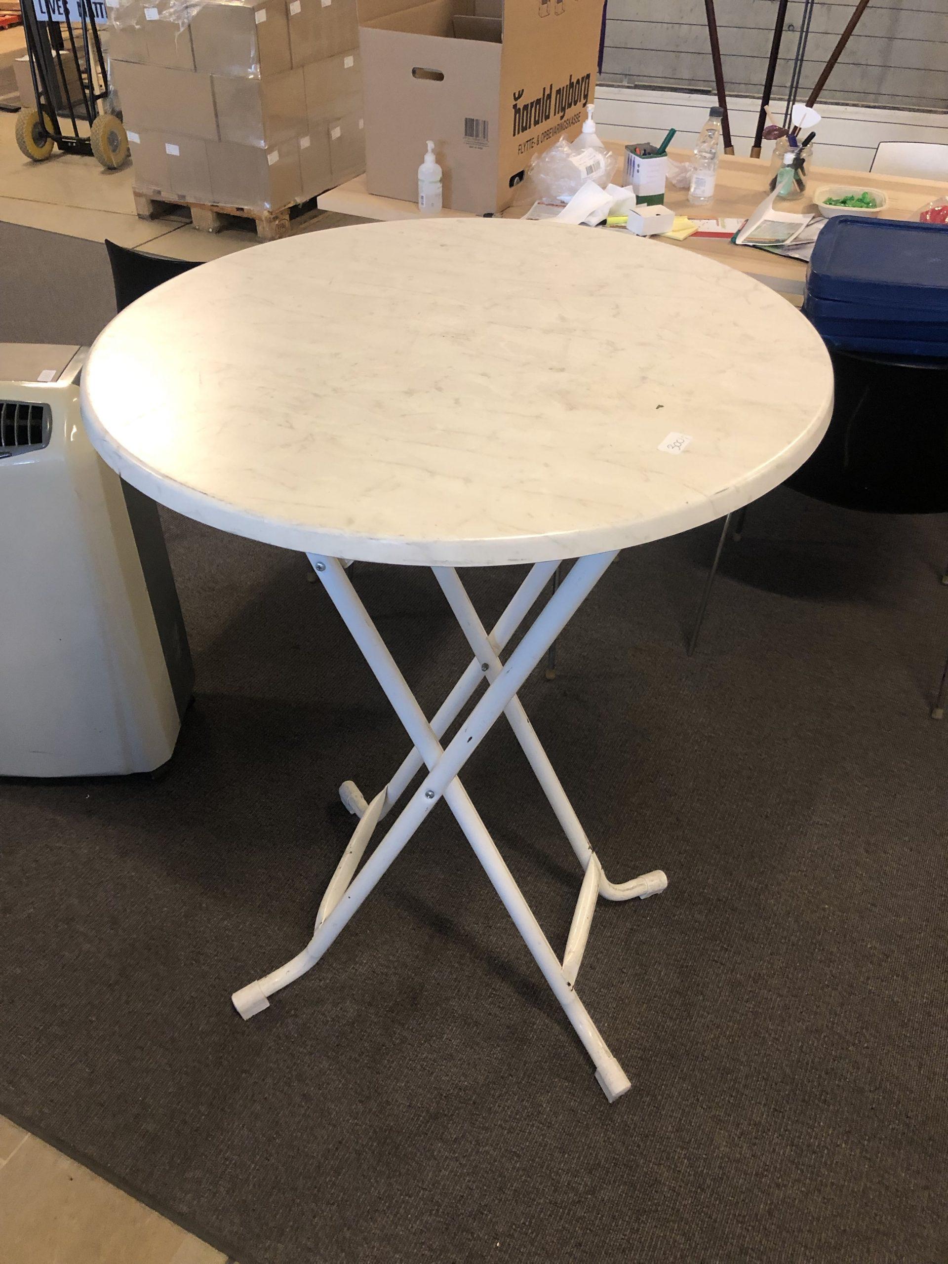 High folding table, white