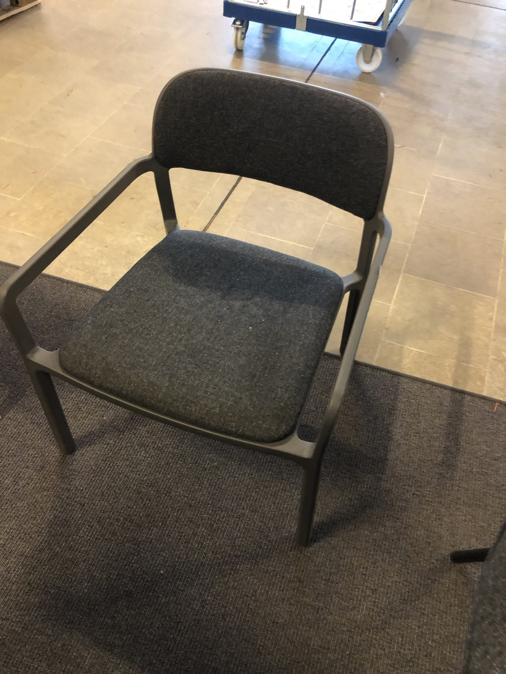 Plastick Office / Table Chair, grey