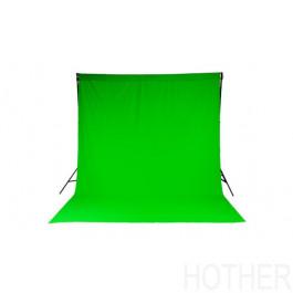 Green screen med stativ, 2,9 x 3m